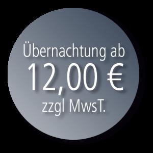 Übernachtung ab 12.00 €